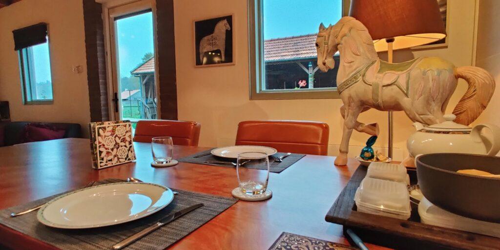 uit eten bij B&B Het Bospaard