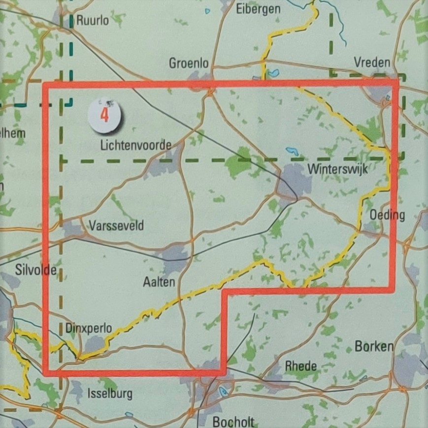 Wandelkaart 4 Zuidoost Achterhoek Achterzijde